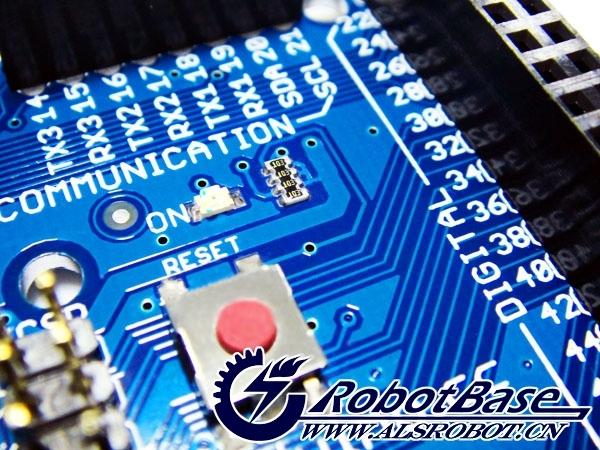 usb转串口电路部分,arduino mega1280采用的是ftdi专用ft232rl芯片,而