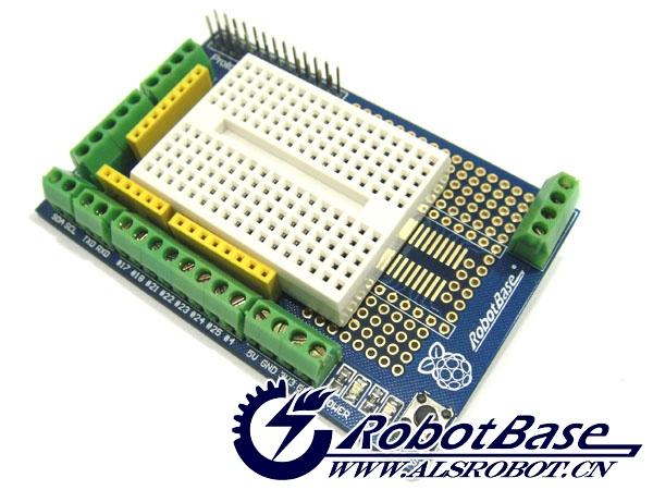 电源指示灯和状态指示灯,以及复位按键,轻松学习树莓派首选原型扩展板