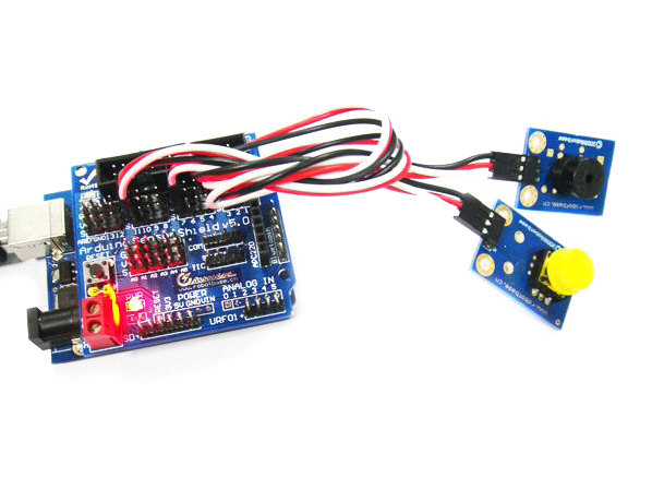 arduino 大按钮模块(红色) 电子积木 碰撞开关 机器人