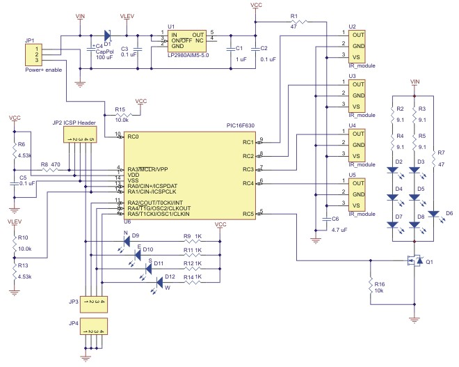 arduino 红外 光电传感器 红外追踪器 程控小车 pololu 原装进口